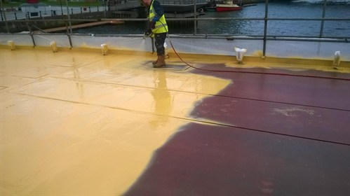 Concrete waterproofing to a new footbridge